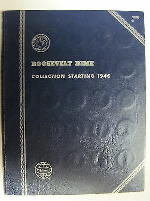 73 Dimes in a Whitman Folder Partial Roosevelt Dime Set Complete From 1946-1978D