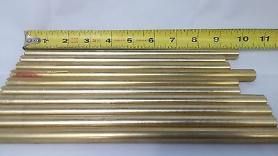 "5pc 7/16"" .4375"" C360 BRASS SOLID ROUND ROD 8"" long H02 Lathe Bar Stock 1/2 Hard"