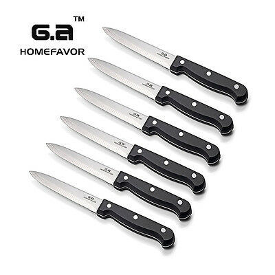 6-piece professional steak knives kitchen knife set stainless