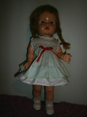 Vintage Ideal Doll Saucey Walker For Parts Or Repair 1950,s 16 Inch