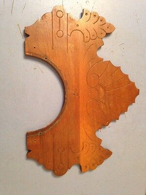 Antique Ornate Carved Wood Crest Top Section From Waterbury Gingerbread Clock