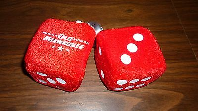 Old Milwaukee Beer Fuzzy Dice Great For A Vintage Car