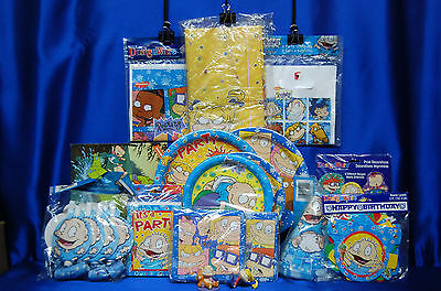 Rugrats Party Set # 17  Rugrat Party Supplies Tablecloth with Cake Toppers