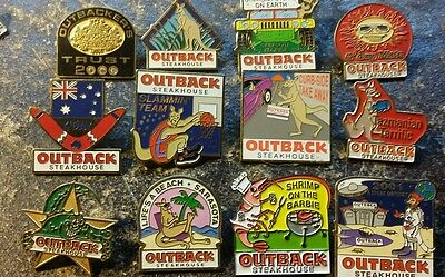 Outback Steakhouse pins