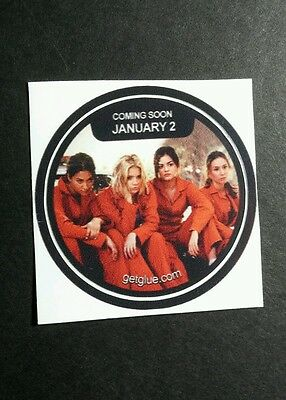 "Pretty Little Liars Orange Prison Jumpsuits Tv Sm 1.5"" Getglue Get Glue Sticker"