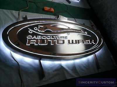 lighted business signboards 3D commercial logos building signages custom-made