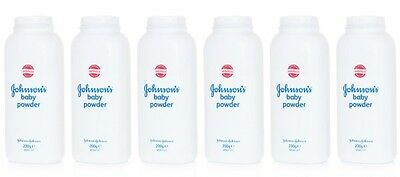 6 x JOHNSONS  BABY POWDER 200g TALCUM TALC HIGH SOFT PROTECTION JOHNSON'S
