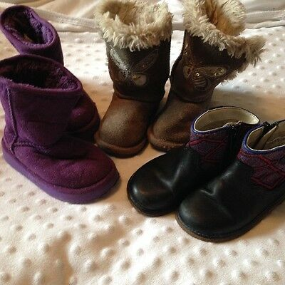 Toddler size 5 boot/shoe bundle. 4 pairs. Clarks, Next, Dunnes, unbranded.