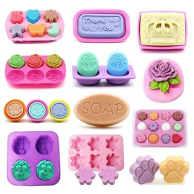 Hot Silicone Ice Cube Candy Chocolate Cake Cookie Cupcake Soap Molds Mould DIY