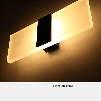 3W 6W 12W Modern LED Wall Light Indoor Sconce Lighting Frosted Lamp Bedroom Bulb