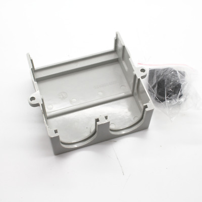 Lucy Grey Junction Box Cover with 2 Gland Entrys and Cable Gland Seals