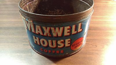 Vintage 1930 Maxwell House Decorative Coffee Tin Can Advertising Ephemera