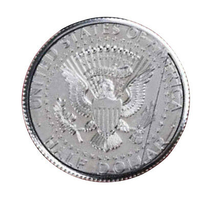 Magic Flipper Coin Half Dollar Magnetic Coin Close-Up Stage Prop Vanish Appear