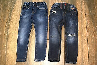 ZARA boys 2 x slim skinny jeans, 5 years, excellent condition