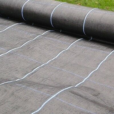 2m x 10m Ground Cover Membrane, Weed Suppressant Fabric, 100gsm THICK