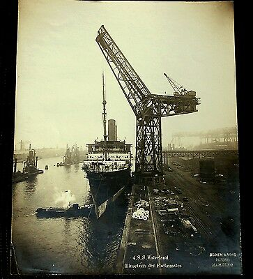 Orig. S/W Foto,S.S. Vaterland,1913,Blohm & Voss,Leviathan,HAPAG,silvergelatine