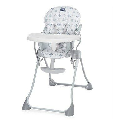 Chicco Pocket Meal Highchair Baby Feeding Reclinng Chair - Light Grey