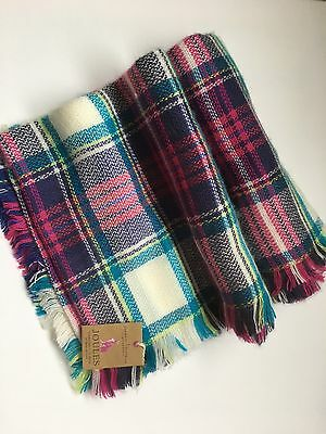 Joules Girls Checked Scarf Shawl Plaid Perfect For Winter