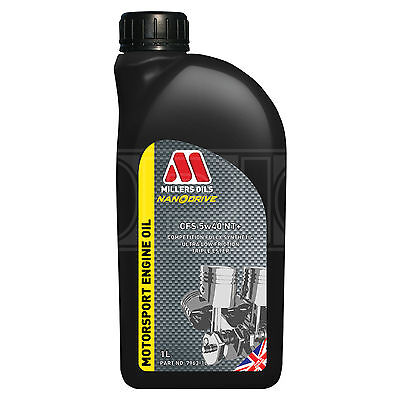 Millers NANODRIVE CFS 5w-40 NT+ Full Synthetic Engine Oil 1 LITRE 1L