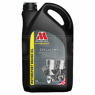 Millers NANODRIVE CFS 5w-40 NT+ Full Synthetic Engine Oil 5 LITRES 5L - NEW 2017