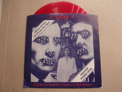 """UFO - Only you can rock me - RED VINYL -  7"""" Single  EX Con"""