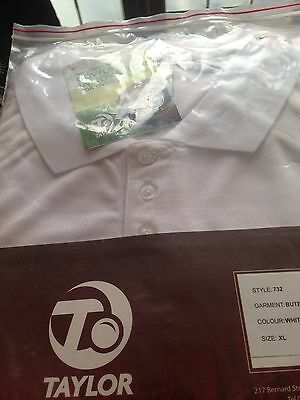 Thomas Taylor White Bowling Shirt XL Last One Great Price