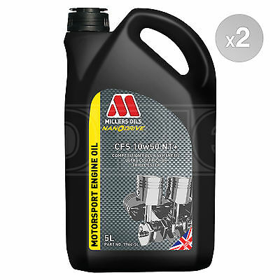 Millers Oils NANODRIVE CFS 10w-50 NT+ Full Synthetic Engine Oil 2 x 5 Litre