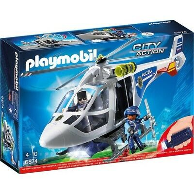 Playmobil® City Action Polizei-Helikopter 6874 | Spielzeug Hubschrauber ab 4 J.