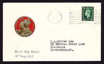 1937 KGVI KG6 Great Britain Coronation cachet cover from Newport to Birmingham