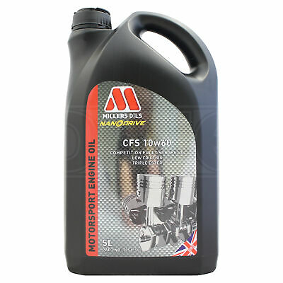 Millers CFS 10w-60 Competition Full Synthetic Engine Oil 10w60 5 LITRES - 2017