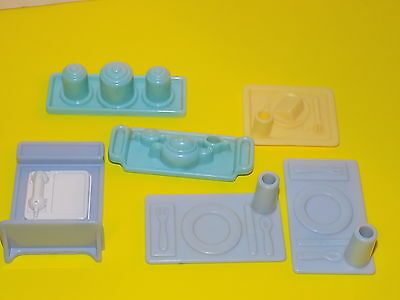 Playskool Dollhouse  accessories canisters , phone trays