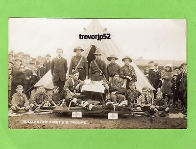 Willington Scout Scouting First Aid Group  Durham Derbyshire ? RP pc  Ref A610
