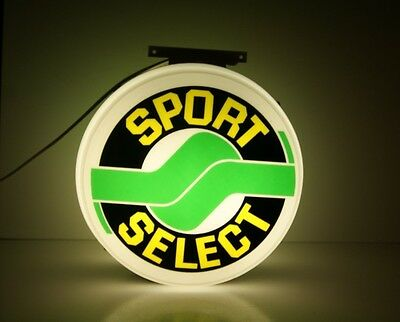 Vintage Lighted Sport Select Store Display Sign 2 Sided