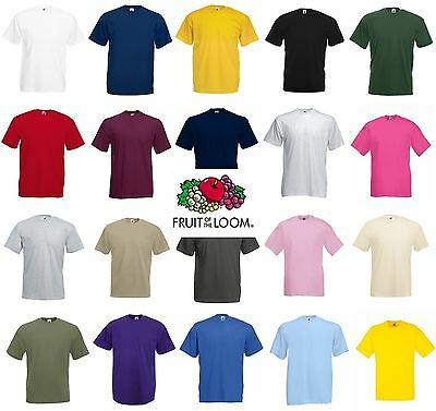 Fruit of the Loom 100% Cotton Plain Blank Mens Womens Tee Shirt Tshirt T-Shirt