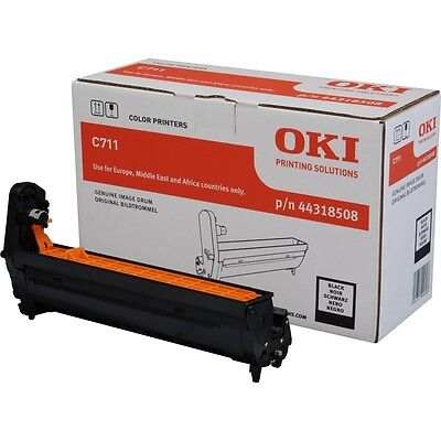 Genuine OKI C711 Image Drum 20K - Black Part 44318508 New & Sealed Free Next Day