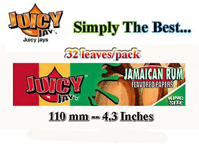 Rolling Papers Jamaican Rum Juicy Jays - KS -reducd shipping on multiple oder