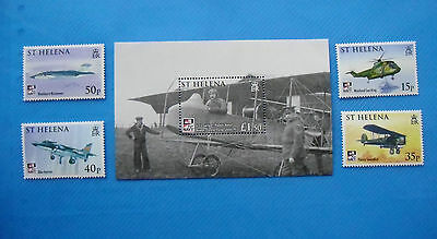 ST HELENA 2009 Fly Navy NAVAL AVIATION  S/s + 4 stamp set Mint NH Unused stamps