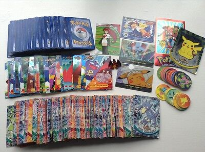 Pokemon 326 Trading cards/Topps TV Animation Cards, 17 Discs and Charizard Badge