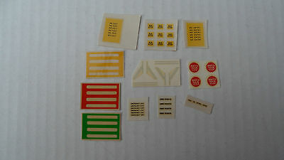 Mabex bus accessory transfers/decals x 12 sets 4mm scale code 3