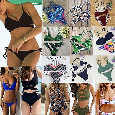 Women's Bandage Bikini Set Push-up Padded Brazilian Triangle Swimsuit Swimwear