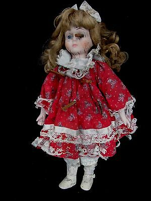 "CREEPY LITTLE GIRL DOLL 15"" TALL  sideshow gaff death"