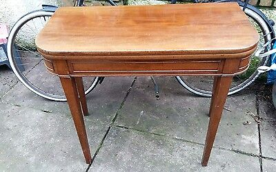 antique fold out table, console/ games/ tea table