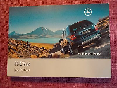 Mercedes-Benz M-Class (Ml) Owners Manual - Owners Guide - Handbook. (Me 283)