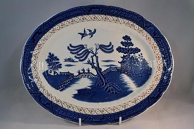 Vintage Booths Real Old Willow 12 inch Oval Plate A8025