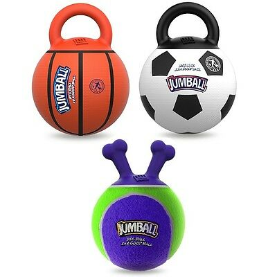 Ancol Rubber Jumball Tennis / Football / Basketball Dog Puppy Play Fetch Toy