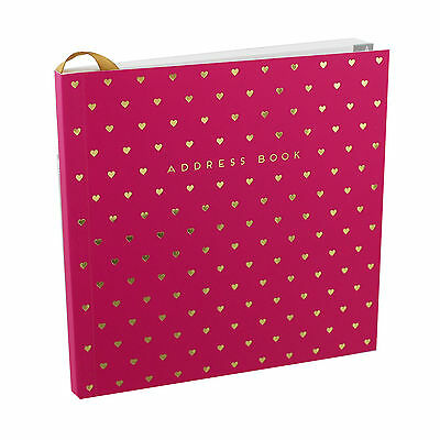 NEW Pink and Gold Designer Address Book From 'By Appointment'