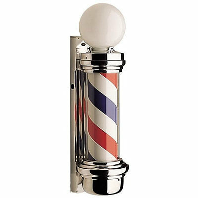 Dome  Barber Pole - American barber shop sign with built-in light & revolving