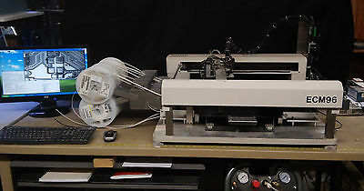 Last Reduction - Manncorp ECM96 Desptop Pick and Place w/many feeders, SW & PC