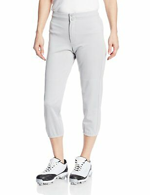 Intensity Women Low Rise Double Knit Baseball Softball Pant Grey Large As-Is