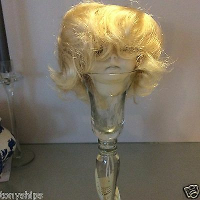 """BABY DOLL WIG    10-11.5"""" size - Pale blonde"""